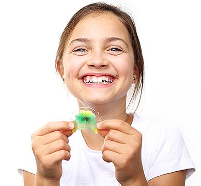 Lose Zahnspange für Kinder